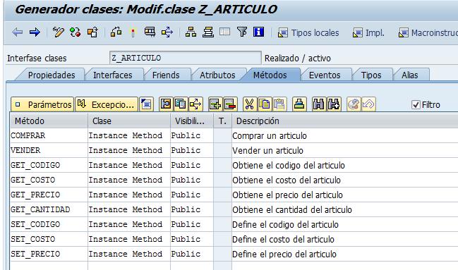 Métodos de la clase - se24.