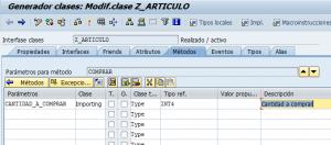Como Definir parámetros de la clase en ABAP se24