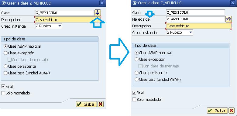 Como crear herencia de clases en ABAP.