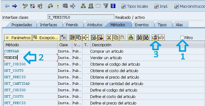 Pasos para redefinir el metodo de una clase en ABAP.