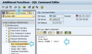 Ejecutar consultas SQL complejas en SAP, join
