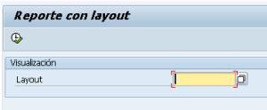 Mostrar selección de layout en los parametros del reporte