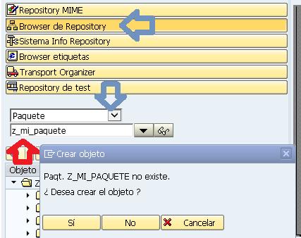Crear un paquete en SAP