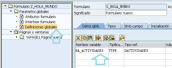 smartform definir variables globales