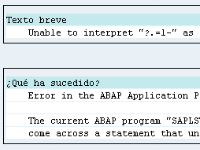 """Unable to interpret """"?.=1-"""" as a number."""